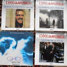 Discos de vinilo: LOTE DE 4 LPS.MUSICA & CINE Nº 40,59, Y 60 Y BANDA SONORA DE GHOST MAURICE JARRE . Lote 202077370