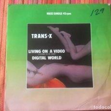 Discos de vinilo: TRANS-X: LIVING ON A VÍDEO . Lote 202085647