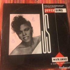 Discos de vinilo: JOYCE SIMS: WALK AWAY. Lote 202087412