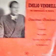 Discos de vinilo: EMILI VENDRELL CANÇONS CATALANES L EMIGRANT, PER TU PLORO,LA BALENGUERA + 1 COLUMBIA 1959. Lote 202095908