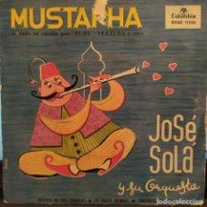 Discos de vinilo: JOSE SOLÁ Y SU ORQUESTA, RUDY VENTURA MUSTAPHA CATALA, TINTARELLA DI LUNA,+2, AÑO 1960 COLUMBIA. Lote 202098376