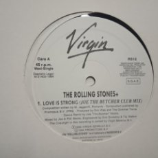 Discos de vinilo: THE ROLLING STONES- LOVE IS STRONG (JOE THE BUTCHER CLUB MIX)- MAXI SINGLE PROMO SPAIN 1994- EXC.. Lote 202101196
