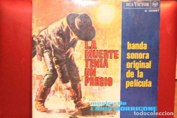 ENNIO MORRICONE LA MUERTE TENIA UN PRECIO +3 EP 1966 RCA VICTOR 3-20997 BANDASONORA ORIGINAL (Música - Discos de Vinilo - EPs - Bandas Sonoras y Actores)