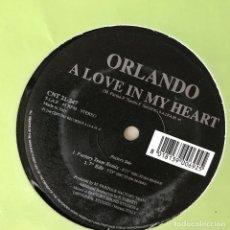 Discos de vinilo: ORLANDO - A LOVE IN MY HEART - 12'' MAXISINGLE 21ST CENTURY 1999. Lote 202255917