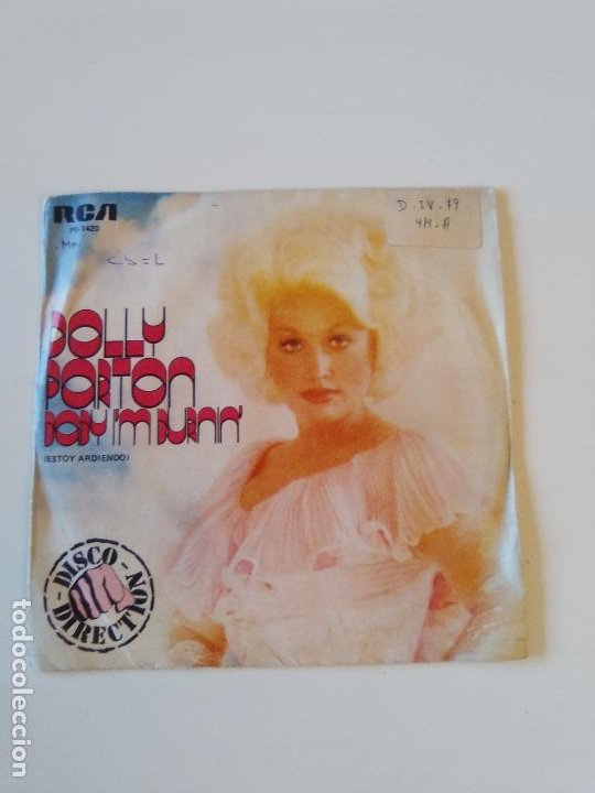 DOLLY PARTON BABY I'M BURNIN' / I REALLY GOT THE FEELING ( 1979 RCA ESPAÑA ) (Música - Discos - Singles Vinilo - Country y Folk)