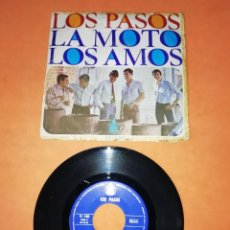 Discos de vinilo: LOS PASOS. LA MOTO. LOS AMOS. HISPAVOX 1966. Lote 202264698