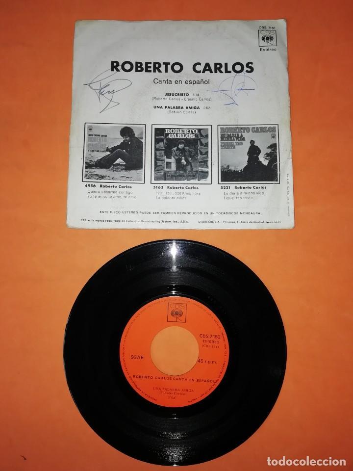 Discos de vinilo: ROBERTO CARLOS. CANTA EN ESPAÑOL. JESUCRISTO. CBS 1971 - Foto 2 - 202267062