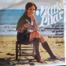 Discos de vinilo: MARIA PILAR: EL CEL VA ENNUVOLAR-SE, EL POBLE, EL VELL, HA MARXAT, EDIGSA 1968, ARR LLEO BORRELL. Lote 202273671