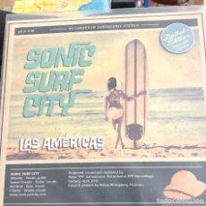 Dischi in vinile: SONIC SURF CITY -THE SURFIN' LIMONES 7 VINILO - LA AMERICAS, ALPHA BETA OMEGA 300 COPIAS SURF PUNK. Lote 202278942