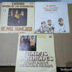 Discos de vinilo: ALMAS HUMILDES - LOTE 3 SINGLES. Lote 202303830
