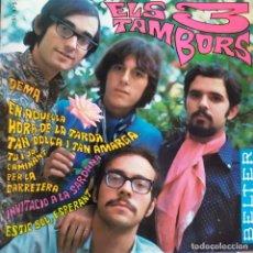 Discos de vinilo: ELS 3 TAMBORS: DEMA,INVITACIO A LA SARDANA,ESTIC SOL,ESPERANT + 1 JORDI, ALBERT BATISTE, BELTER 1968. Lote 202312073