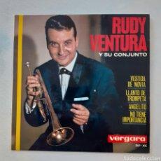 Discos de vinilo: RUDY VENTURA. VESTIDA DE NOVIA. VERGARA 257-XC. 1964. FUNDA VG+. DISCO VG+.. Lote 202323842