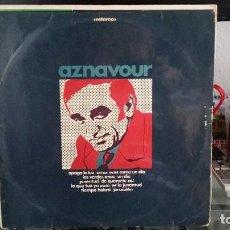 Discos de vinilo: *** CHARLES AZNAVOUR - AZNAVOUR CANTA EN ESPAÑOL - LP AÑO 1969 - LEER DESCRIPCION. Lote 202324377