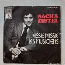 Discos de vinilo: SACHA DISTEL. MISSIE MISSIE. EMI ODEON J 006-93.328. 1972 ESPAÑA. FUNDA VG+. DISCO VG+.. Lote 202325916