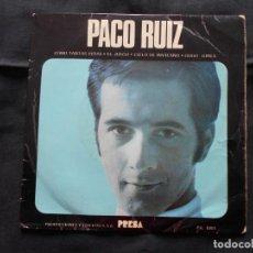 Discos de vinilo: EP PACO RUIS // COMO TANTAS VIDAS + 3. Lote 202340483