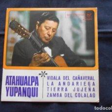 Discos de vinilo: EP ATAHUALPA YUPANQUI // VIDALA DEL CAÑAVERAL + 3. Lote 202343583