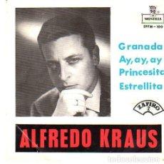 Discos de vinilo: ALFREDO KRAUS - (GRANADA, AY AY AY, PRINCESITA, ESTRELLITA) EP ZAFIRO 1959. Lote 221233857