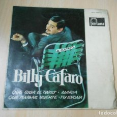 Discos de vinilo: BILLY CAFARO, EP, QUE SIGA EL TWIST (LET´S TWIST AGAIN) + 3, AÑO 1962. Lote 202348965