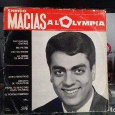 Discos de vinilo: *** ENRICO MACIAS - A L'OLYMPIA - LP AÑO 1964 - MADE IN FRANCE - LEER DESCRIPCIÓN. Lote 202349973
