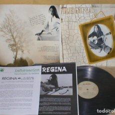 Discos de vinilo: REGINA SPAIN LP 1976 NOVOLA + INSERTS POP FEMENINO FEMALE SPANISH POP PROMOCIONAL MUY RARO. Lote 202360432