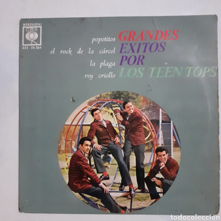 LOS TEEN TOPS. GRANDES ÉXITOS. CBS AGS 20.064. 2963 ESPAÑA. FUNDA VG+. DISCO VG+. (Música - Discos de Vinilo - EPs - Grupos y Solistas de latinoamérica)