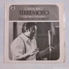 Discos de vinilo: CANTA JEREZ. TERREMOTO. HISPAVOX HH 16.638. 1968. FUNDA VG+. DISCO VG++.. Lote 202371308