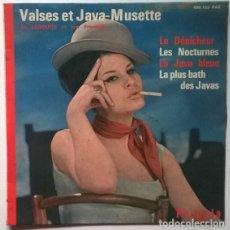 Discos de vinilo: AL LEROUGE. VALSES ET JAVA-MUSETTE: LE DENICHEUR/LES NOCTURNES/ LA JAVA BLEUE/ LA PLUS BATH DES JAVA. Lote 202376590