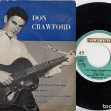 Discos de vinilo: DON CRAWFORD - WHAT'S BIGGER THAN YOU - EP DE VINILO EDICION ESPAÑOLA. Lote 202396508