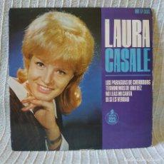 Discos de vinilo: LAURA CASALE - LOS PARAGUAS DE CHERBOURG + 3 - EP HISPAVOX DEL AÑO 1964 CHICA YEYE - BUEN ESTADO. Lote 202403976