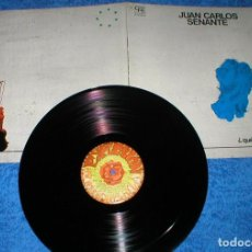 Discos de vinilo: JUAN CARLOS CACO SENANTE SPAIN LP 1978 ¿QUE TE PASA, TIERRA MÍA? CANARIAS FOLK POP INSERTS EXPLOSION. Lote 202412115