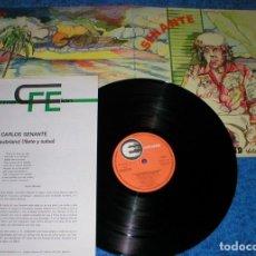 Discos de vinilo: JUAN CARLOS CACO SENANTE SPAIN LP ´80 CHATEAUBRIAND FILETE Y SALSA CANARIAS FOLK POP SELLO EXPLOSION. Lote 202413323