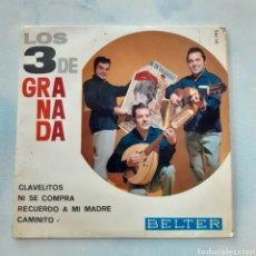 Discos de vinilo: LOS 3 DE GRANADA. RECUERDO A MI MADRE... BELTER 51.195. 1965. FUNDA VG+. DISCO VG++.. Lote 202419083