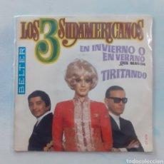 Discos de vinilo: LOS 3 SUDAMERICANOS. EN INVIERNO O EN VERANO... BELTER 07 656. 1969. FUNDA VG. DISCO VG++.. Lote 202419911