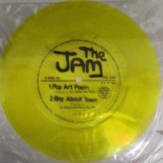 Disques de vinyle: THE JAM - POP ART POEM / BOY ABOUT TOWN (FLEXI, 7, S/SIDED, YEL) REVISTA FLEXIPOP UK. Lote 202420282