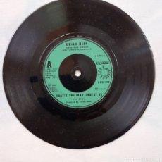 Discos de vinilo: URIAH HEEP. HOT PERSUASIÓN. BRONZE BRO 148. 1982. UK. SIN FUNDA. DISCO VG++.. Lote 202420656