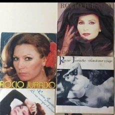 Discos de vinilo: LOTE SINGLES ROCÍO JURADO DIFERENTES ÉPOCAS 45 RPM. Lote 202429630