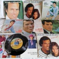 Discos de vinilo: LOTE 8 SINGLES JULIO IGLESIAS AÑOS 70.80 EXCELENTE ESTADO VER MAS INFORMACION. Lote 202433282