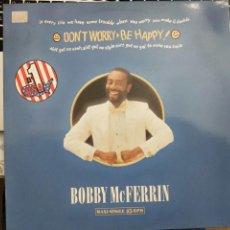 Discos de vinilo: BOBBY MCFERRIN - DON'T WORRY, BE HAPPY ( MAXI)1988 EMI-RECORDS 052 20 2928 6.COMO NUEVO . Lote 202442716