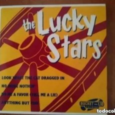 Discos de vinilo: LUCKY STARS - LOOK WHAT THE CAT DRAGGED IN + 3 (EP). Lote 202445750