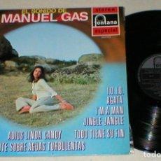 Discos de vinilo: MANUEL MANOLO GAS SPAIN LP 1970 EL SONIDO DE MANUEL GAS VERSIONES DE BEE GEES THE BEATLES JAZZ MIRA. Lote 202475573