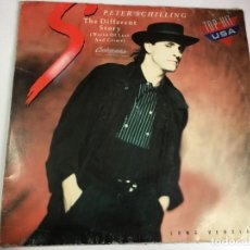 Discos de vinilo: DISCO VINILO MAXI SINGLE - PETER SCHILLING - THE DIFFERENT STORY. Lote 202480852