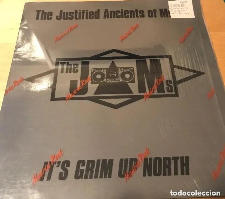 KLF - THE JUSTIFIED ANCIENTS OF MUMU - THE JAMS - ITS GRIM UP NORTH - VINILO (Música - Discos de Vinilo - Maxi Singles - Techno, Trance y House)