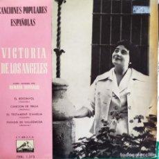 Discos de vinilo: VICTORIA DE LOS ANGELES: EL ROSSINYOL,TESTAMENT AMELIA,PARADO VALLDEMOSA + 1 RENATA TARRAGO 1960. Lote 202539217