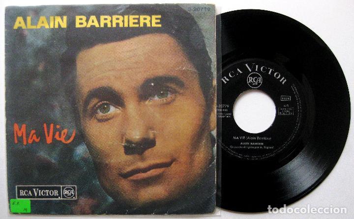 ALAIN BARRIÈRE - MA VIE + 2 - EP RCA VICTOR 1964 BPY (Música - Discos de Vinilo - EPs - Canción Francesa e Italiana)