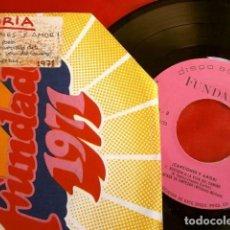 Discos de vinilo: GLORIA (EP FUNDADOR 1971) NO SOY UN POETA - SENTADA A LA VERA DEL CAMINO + 2 TEMAS (BUEN ESTADO). Lote 202545830
