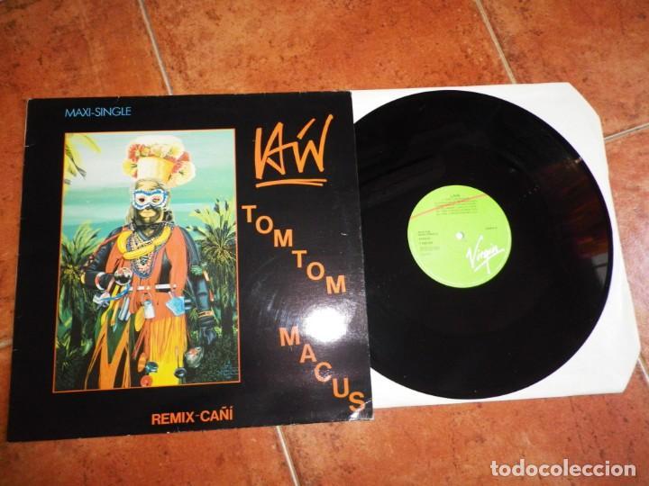 LAIN TOM TOM MACUS REMIX - CAÑI MAXI SINGLE VINILO DEL AÑO 1986 PORTADA COSTUS MOVIDA LUIS MIGUELEZ (Música - Discos - LP Vinilo - Solistas Españoles de los 70 a la actualidad)