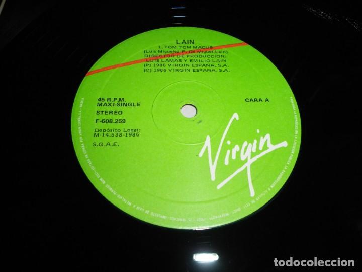 Discos de vinilo: LAIN Tom tom macus REMIX - CAÑI MAXI SINGLE VINILO DEL AÑO 1986 PORTADA COSTUS MOVIDA LUIS MIGUELEZ - Foto 2 - 202553995