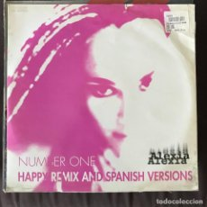 Discos de vinilo: ALEXIA - NUMBER ONE (HAPPY REMIX & SPANISH VERSION) - 12'' MAXISINGLE DWA 1996. Lote 202572105