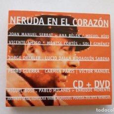 Discos de vinilo: NERUDA EN EL CORAZÓN. Lote 202577240