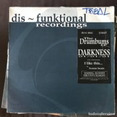 Discos de vinilo: STEVE MAC & YOUSEF - THE DRUMBUMS EP - 12'' MAXISINGLE DIS-FUNKTIONAL 2001. Lote 202578292